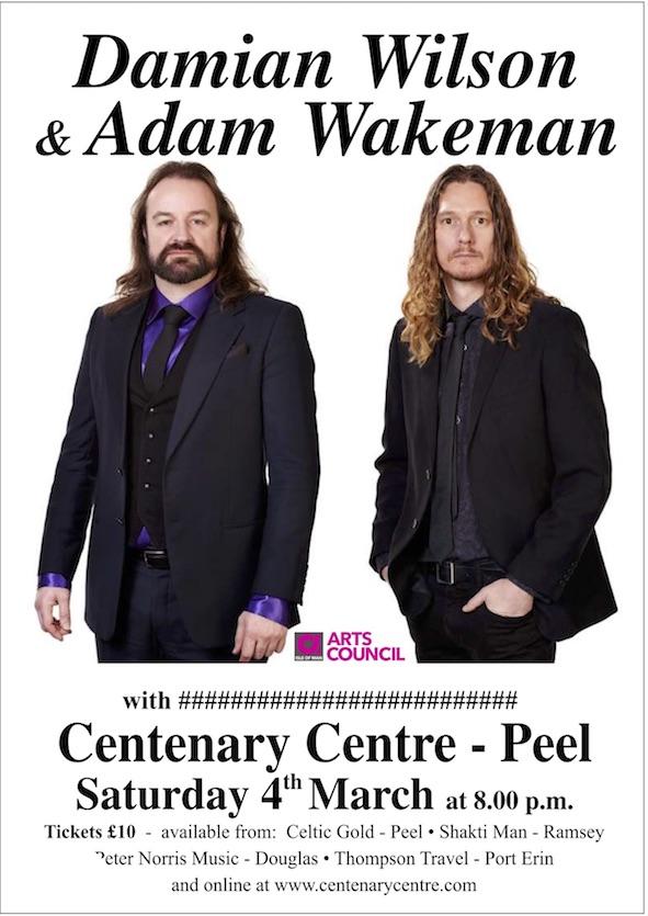 Damian Wilson & Adam Wakeman @ Centenary Centre | Isle of Man