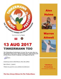 Tinkermann Too @ Centenary Centre | Peel | Isle of Man