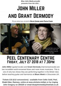 John Miller and Grant Dermody (plus special guests Blue John and Papa Cass) @ Centenary Centre, Peel | Peel | Isle of Man