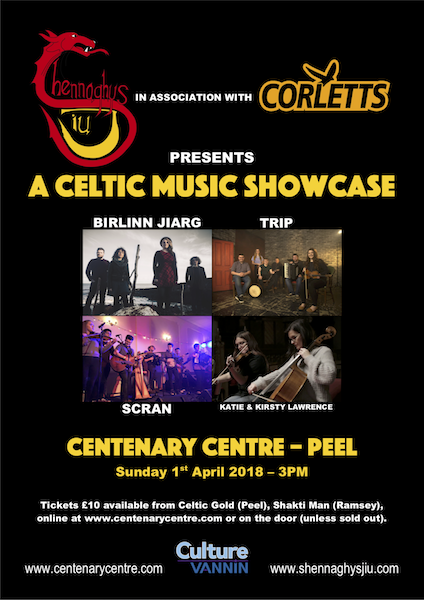 Celtic Music Showcase in association with Shennaghys Jiu and Corletts