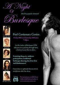 A Night of Burlesque @ Centenary Centre | Peel | Isle of Man