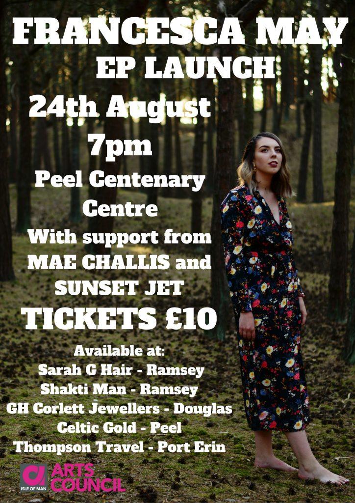 Francesca May EP Launch @ Peel Centenary Centre | Peel | Isle of Man