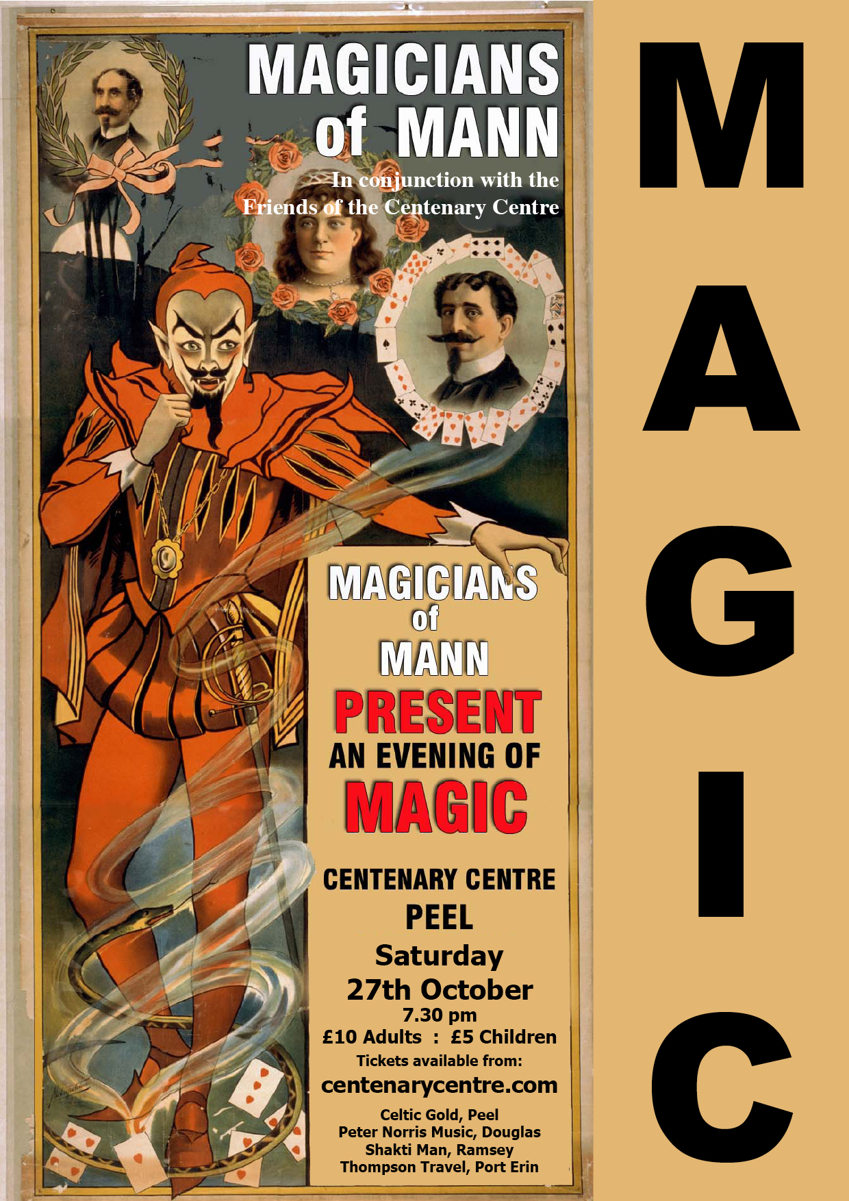 An evening of Magic with Magicians of Mann @ Centenary Centre | Peel | Isle of Man