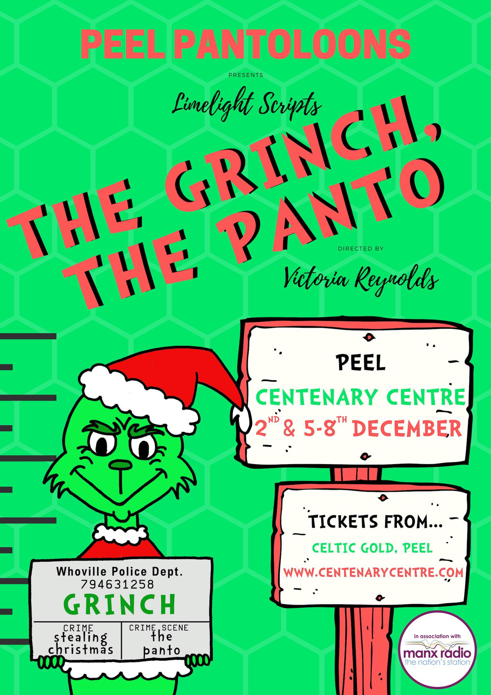 Peel Pantoloons presents - The Grinch The Panto @ Peel Centenary Centre | Peel | Isle of Man