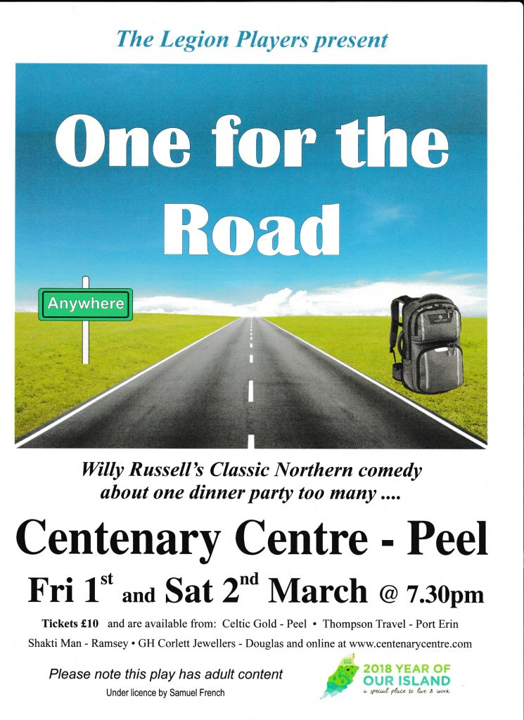 """The Legion Players Present """"One for the Road"""" @ Peel Centenary Centre"""