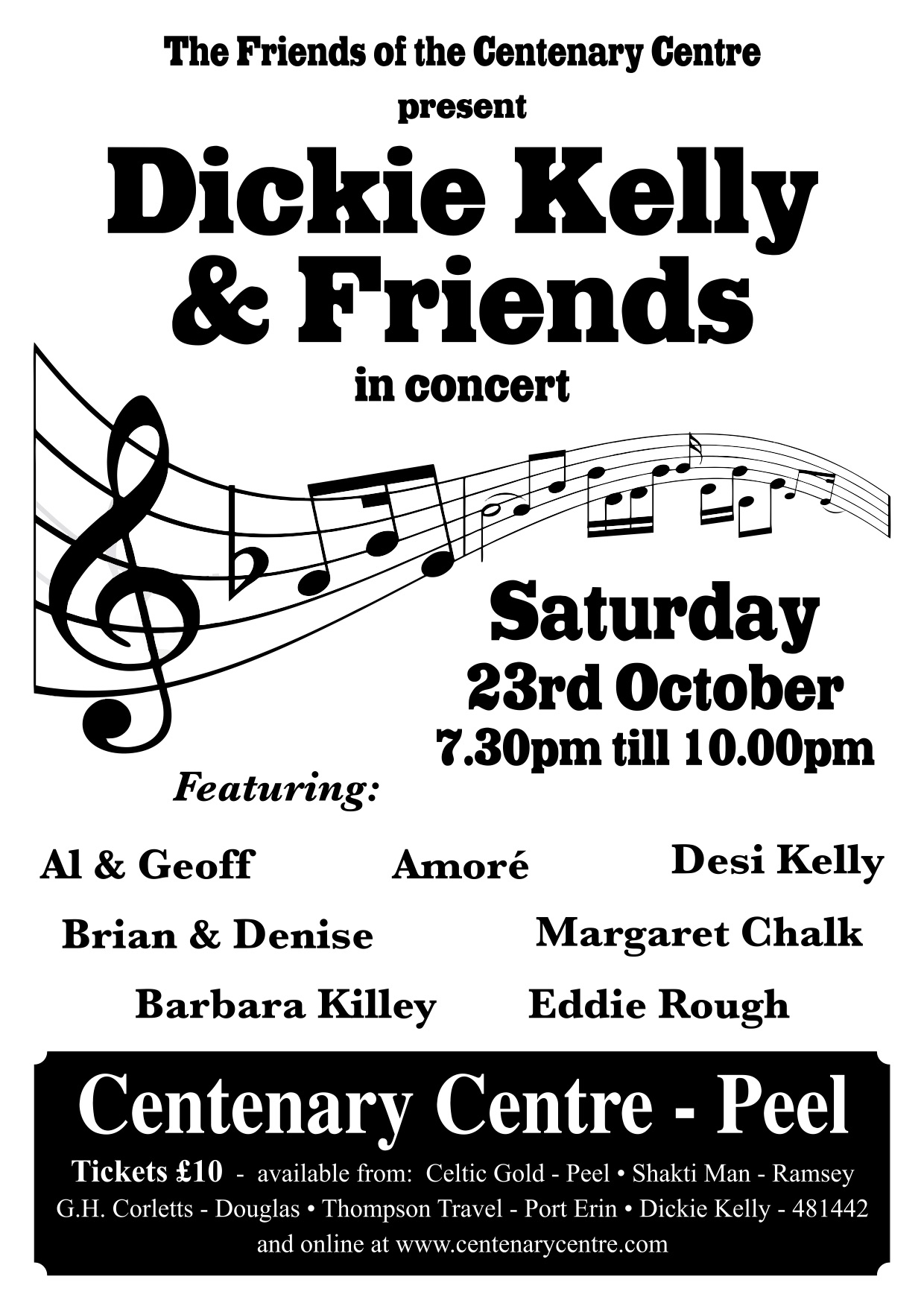 Dickie Kelly & Friends in Concert @ Centenary Centre