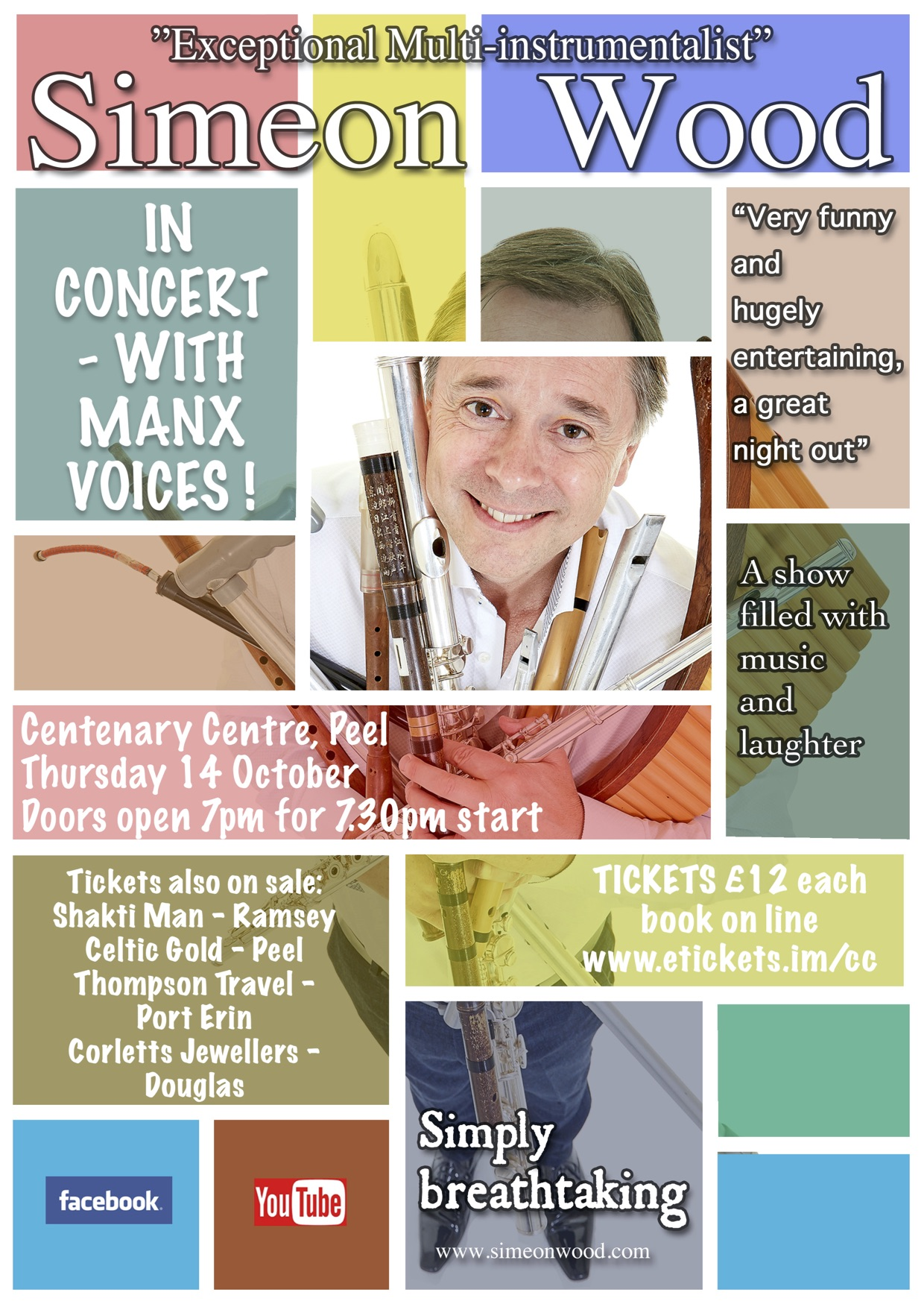 Simeon Wood in concert with Manx Voices @ Centenary Centre